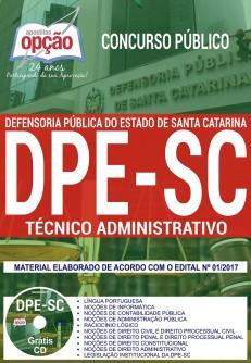 Apostila concurso DPE Defensoria [SC] Técnico Administrativo 2018