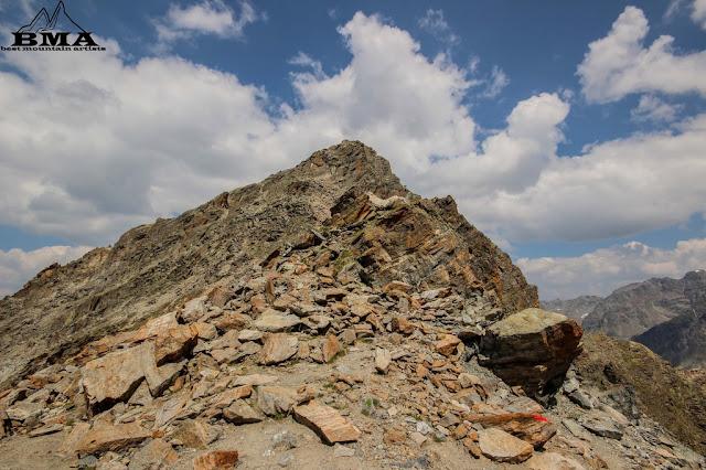 ausblick getschnerscharte  - wandern silvretta jamtalhütte