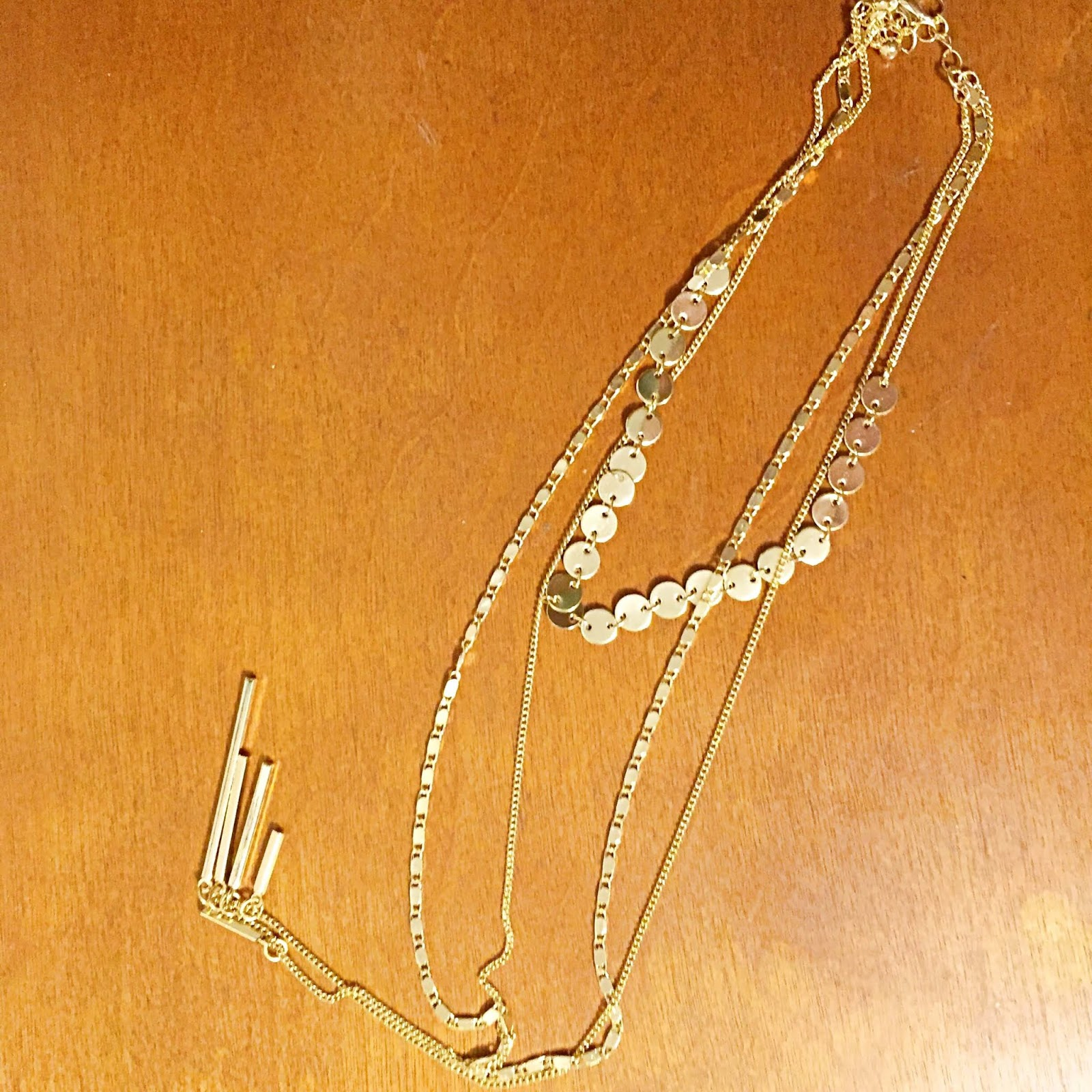 Forever 21 layered gold coin necklace