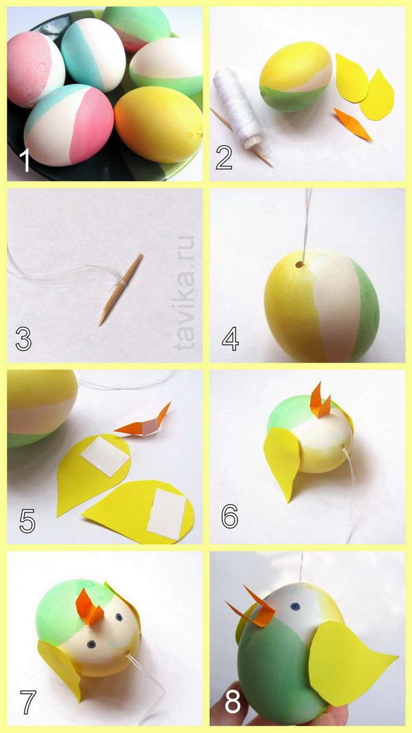 как сделать птичку из яйца