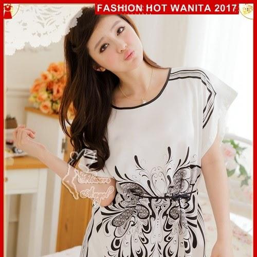 FWS088 Baju Tidur Sleepwear Import Putih Terusan BMG