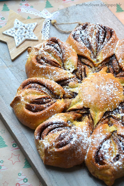 Recette facile brioche étoile / flocon au Nutella - muffinzlover.blogspot.fr