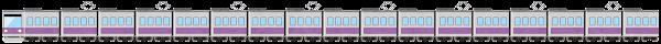 電車のライン素材(紫)