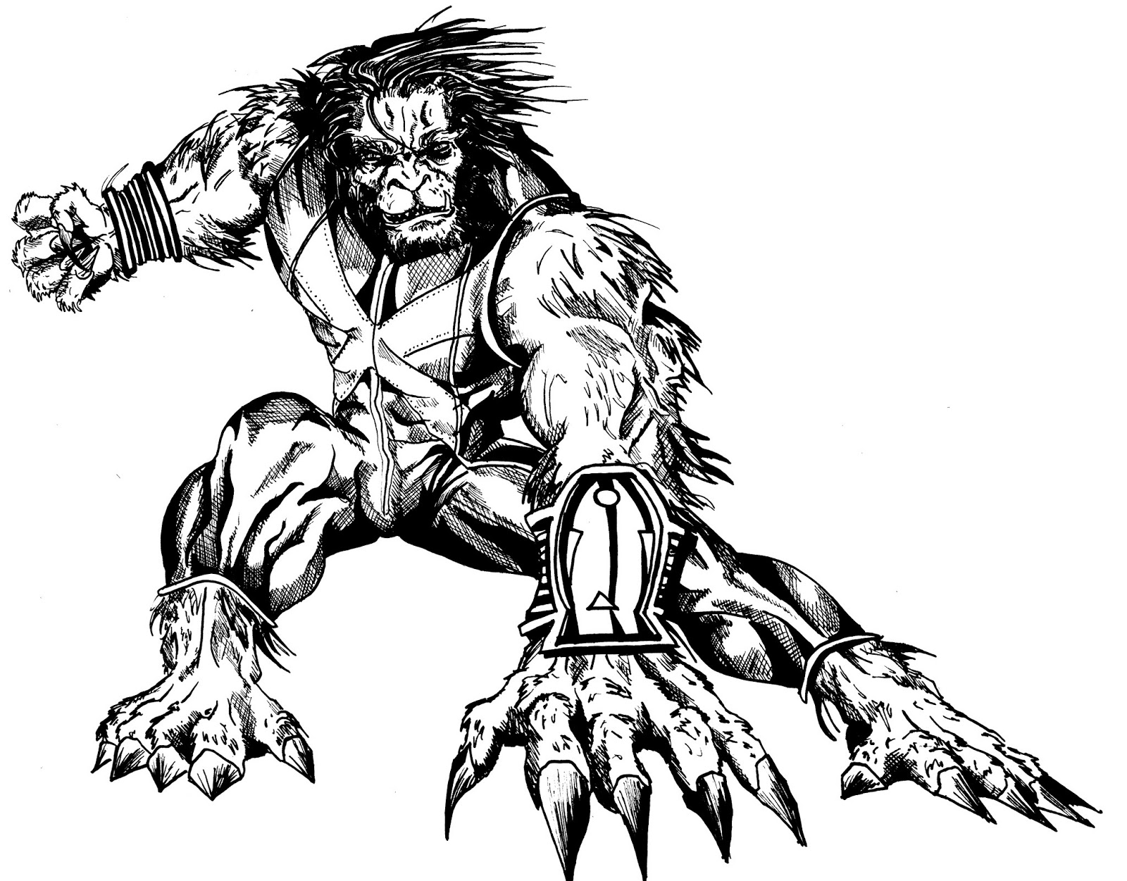 The Electric Gorilla The Beast And The Thing Drawings