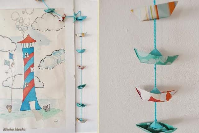 kilika hecho a mano origami barco