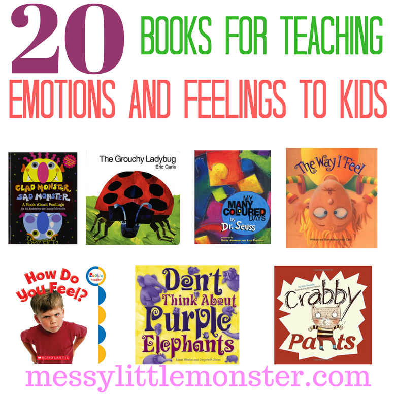 A list of 20 recommended children's books about emotions and feelings for preschoolers and toddlers. These feelings books for kids are great for slightly older children too!