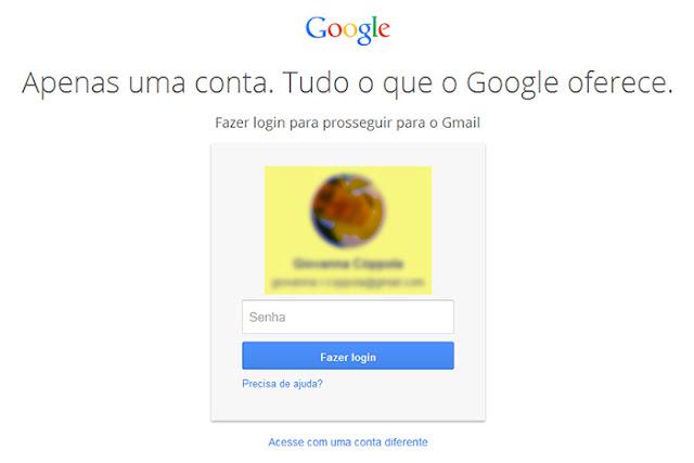 Entrar direto e fazer login no Gmail e-mail