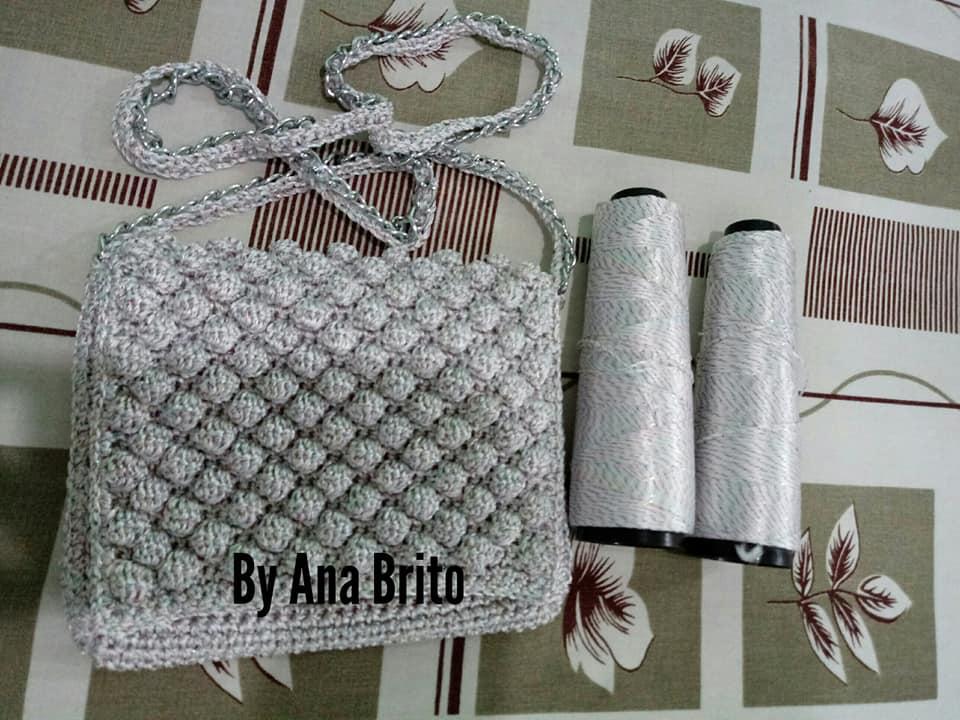 9342365cc Dy Crochê! (By Ana Brito)  Bolsa brilho