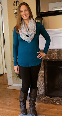 Laila Jayde Emme Suede Neckline Knit Top Stitch Fix October 2015
