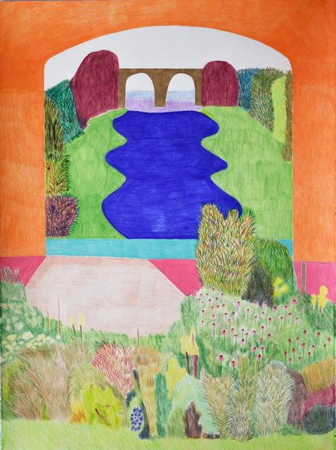 "Arte, dibujo por Ross Taylor, ""Morning Order"", 2017, pencil on paper."