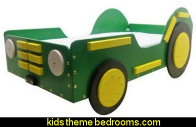 Tractor Bed in Green - Toddler Size theme beds - novelty furniture - woodworking bed plans - unique furniture - novelty furniture - themed furniture - themed beds - castle themed bed - castle loft beds - boat bed - Pirate Ship Bed - BATMOBILE BED - train bed - princess carriage beds - Doll house Beds