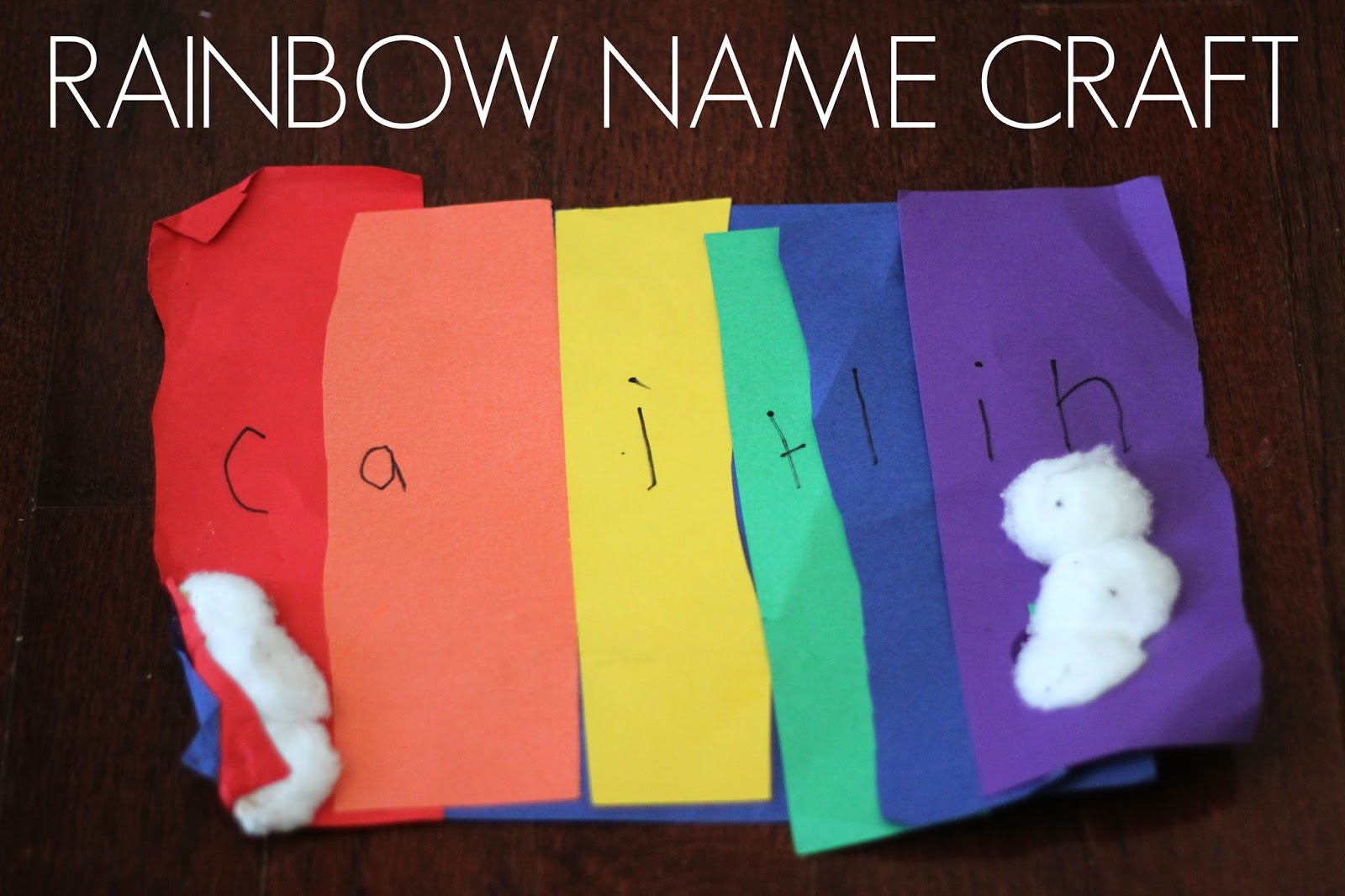 Today Im Sharing An Easy Peasy Rainbow Name Craft You Can Try With Your Kids