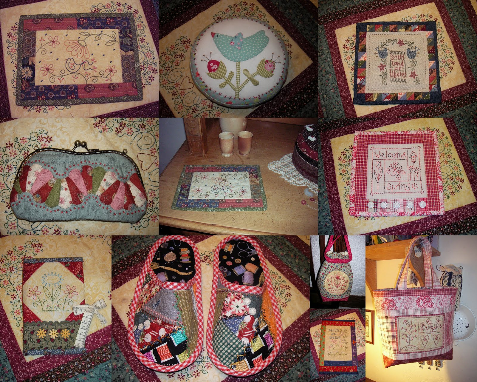 Patchwork with Stitchery