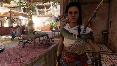 assassins creed origins - the best actual image i could get of aya