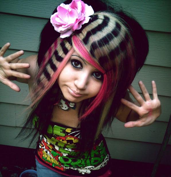 fashionista girl crazy-wild hairstyle