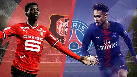 PSG thắng đậm Rennes.