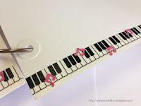 galeria schaffar taśma washi klawisze fortepian dziurkacz nutki
