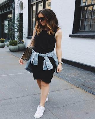vestido con tenis tumblr