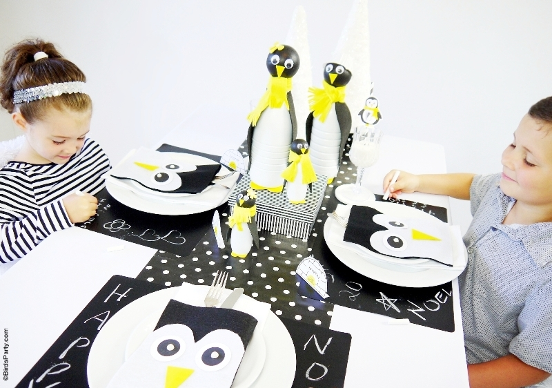 A Penguin Themed Kids Christmas Holiday Tablescape - BirdsParty.com  sc 1 st  Birdu0027s Party Blog & A Penguin Themed Kids Christmas Holiday Tablescape - Party Ideas ...