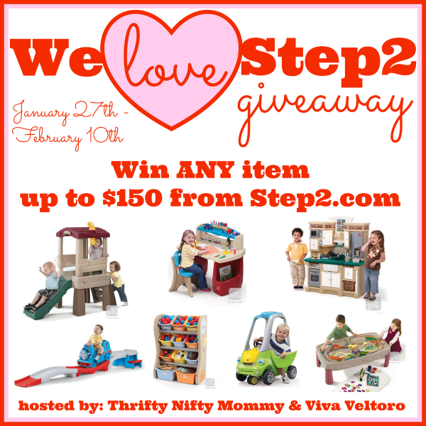 Enter the We Love Step2 Giveaway. Ends 2/10.