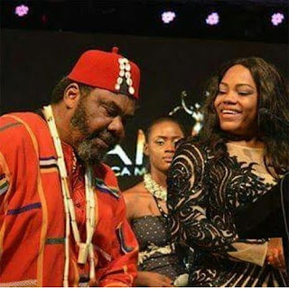 Pete Edochie poses with Nyesom and Eberechi Wike at AMAA 2016
