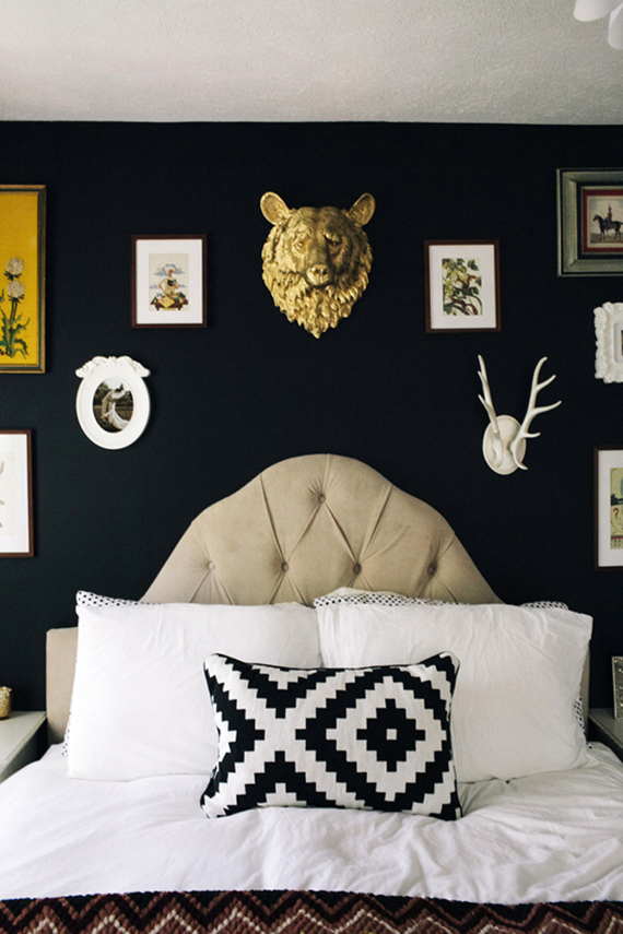 LOVE OR NOT: Faux taxidermy on wall | Image by Yvonne Rock via Style Me Pretty