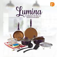 Dusdusan Lumina Cookware 14 Pieces Aluminium Non Stick (Set of 14) ANDHIMIND