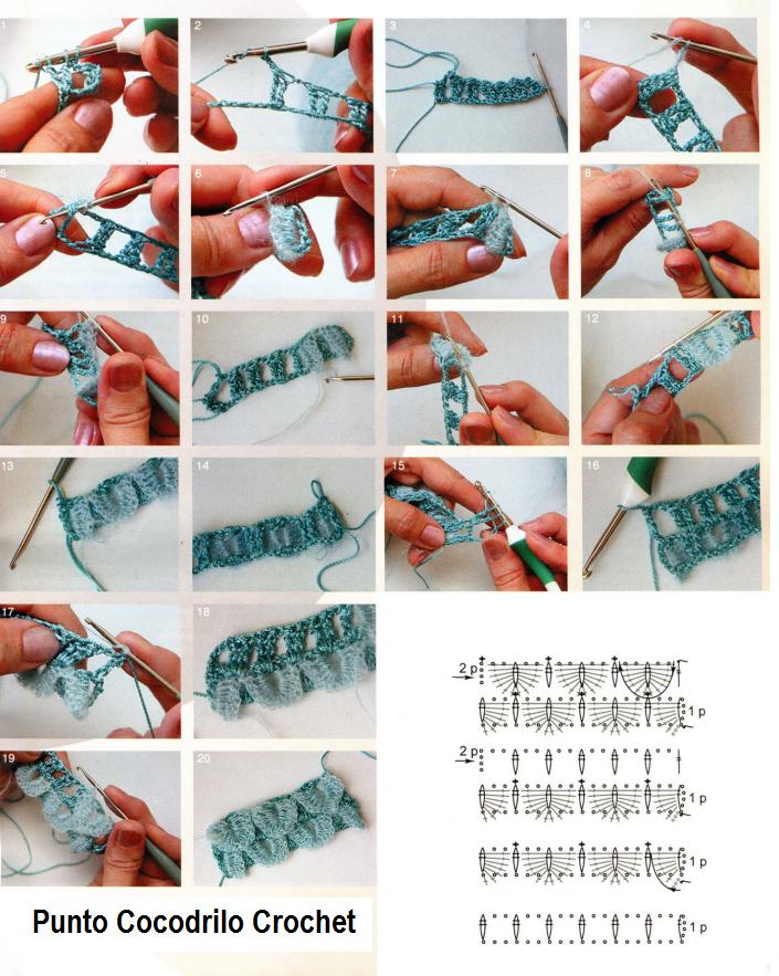 Punto Cocodrilo En Crochet