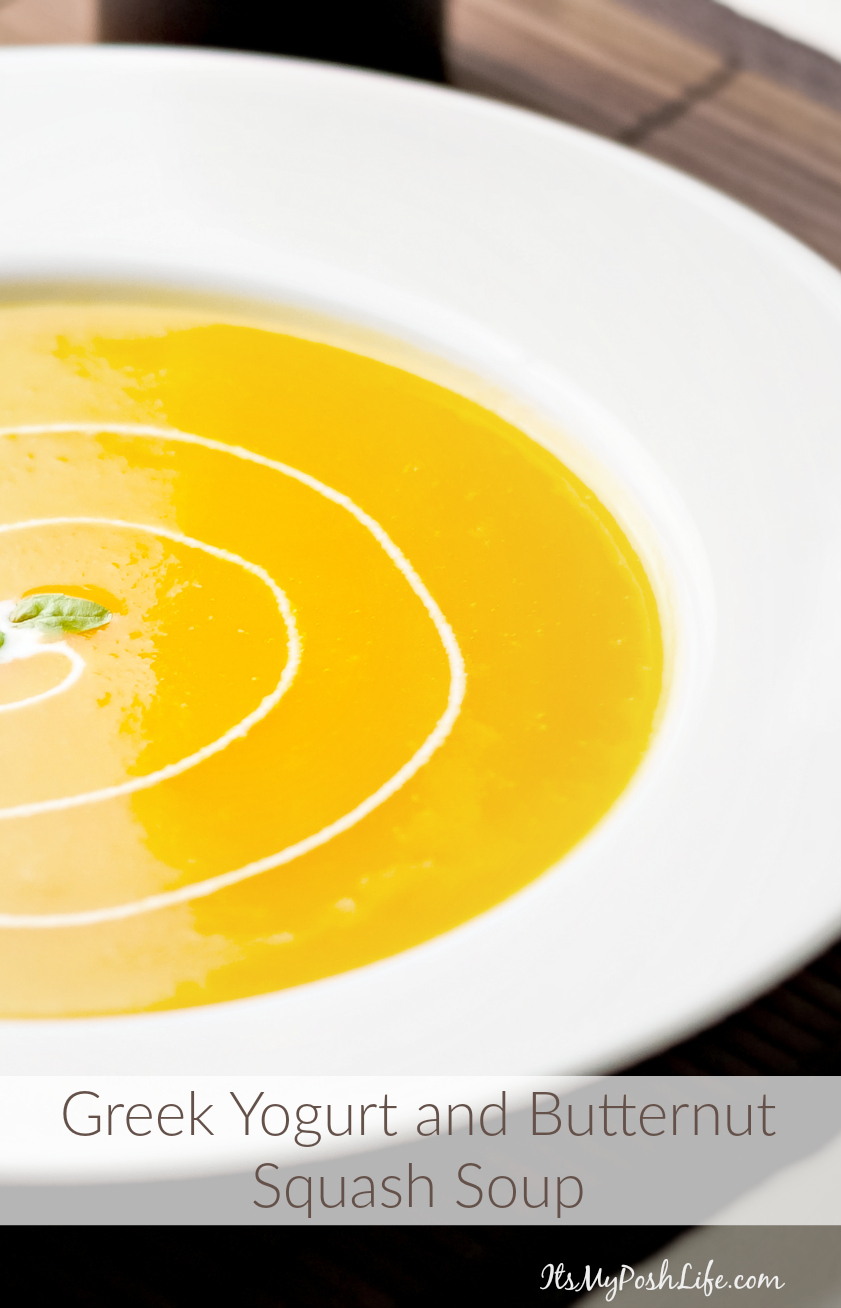 Greek Yogurt and Butternut Squash Soup