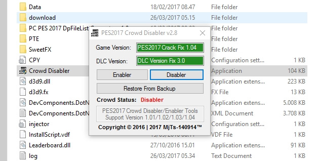 New Crowd Disabler V2 9 - PES 2017 - PATCH PES | New Patch