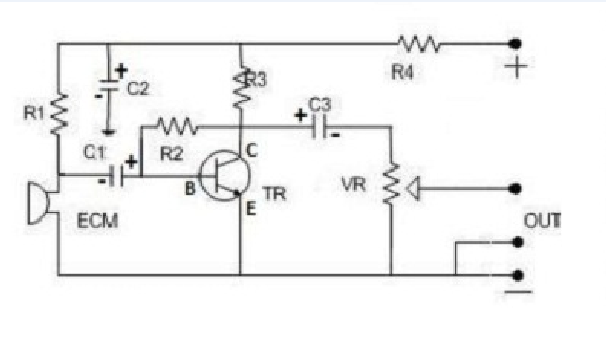 skema rangkaian preamp mic condenser super peka