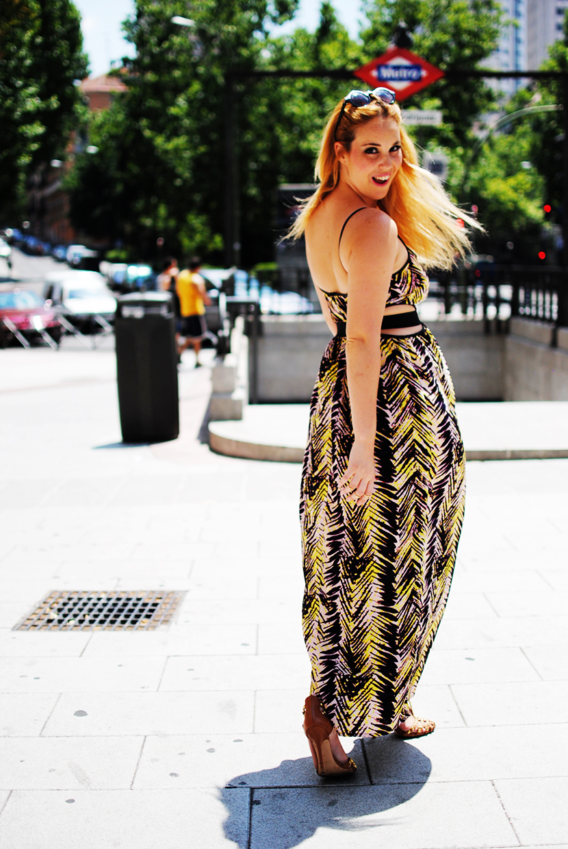 Lashes of london; SNB BLOG, Nery Hdez, Maxi dress, print tribal