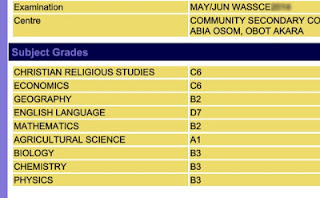 May/june waec result checking method