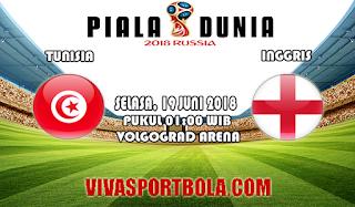 Prediksi Bola Tunisia vs Inggris 19 Juni 2018