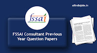 FSSAI Consultant Previous Year Question Papers