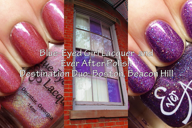 Blue-Eyed Girl Lacquer and Ever After Polish Destination Duo: Boston, Beacon Hill