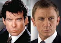 Pierce Brosnan und Daniel Craig als James Bond 007
