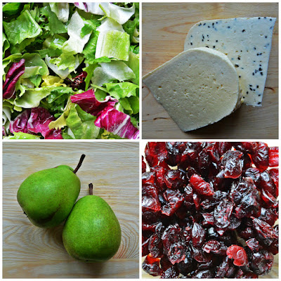Sałatka z serem korycińskim i gruszkami - składniki