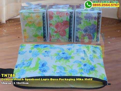 Dompet Pouch Spunbond Lapis Busa Packaging Mika Motif
