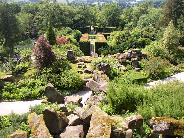 The view from the topp of Chatsworth's rock garden in 2005