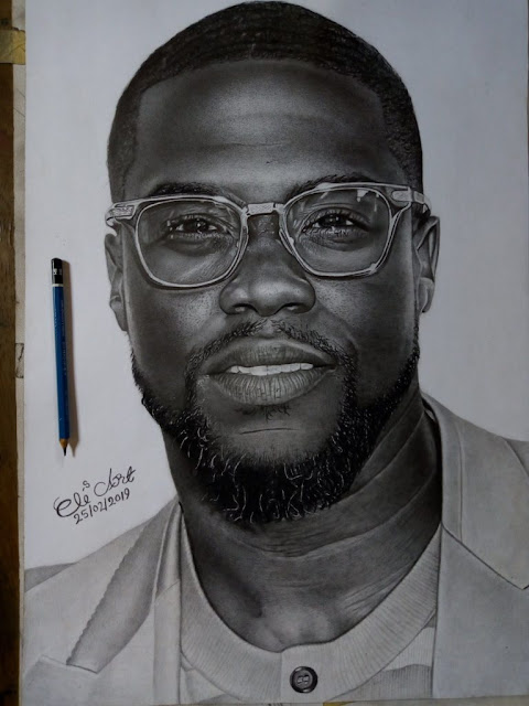 America's Kevin Hart buys artwork of Kaduna-based Eli Waduba