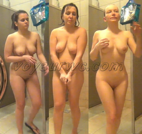 Swimming Pool Shower 145-155 (Hidden Camera in a Swimming Pool Shower)