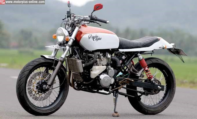 Honda Tiger Modifikasi Honda CB 320 cc Pakai Head Cylinder Yamaha Vixion