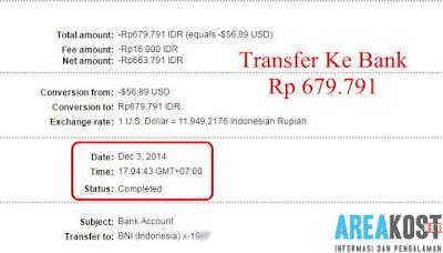 Penarikan Uang Tunai Tanggal 03-12-2014