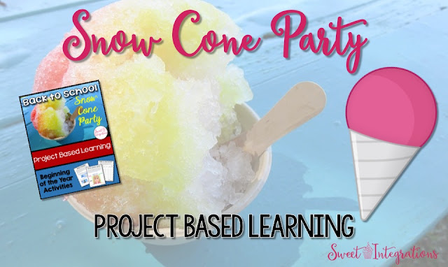 Gear up for a great year with this back to school project based learning unit. I've included community building activities and a Back to School Snow Cone Party idea. I've included a FREEBIE!