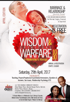 A Non-denominational Marriage and Relationship Quarterly Summit on 29th April 2017