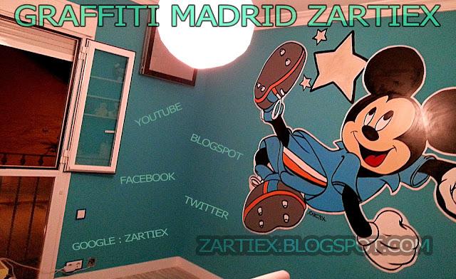 Decorar y pintar mi cuarto o mi habitacion con murales de Graffitis en Madrid 8