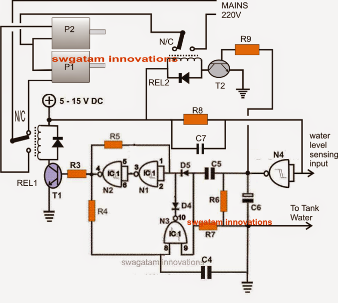 5 Watt Led Driver Circuit Diagram 1995 Toyota Tercel Engine Automatic Submersible Water Pump Controller