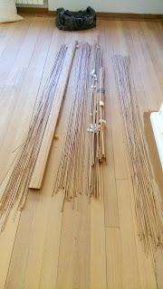 Tiras de madera chuletas