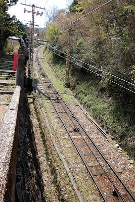 ケーブル(生駒山上行き)の線路